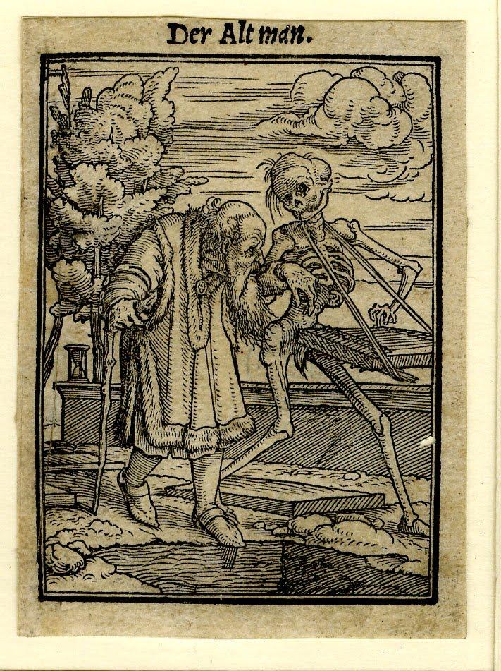 Hans Holbein_1526_Der Totentanz-Der Altman_65x50