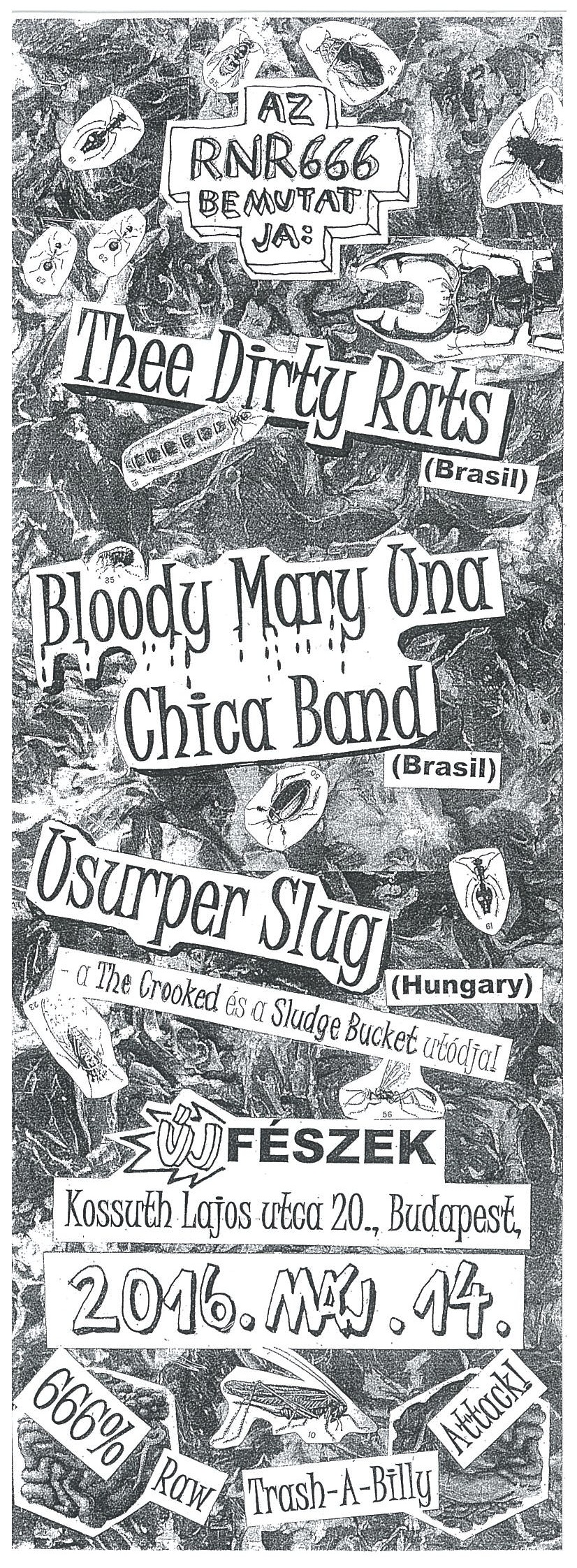 Thee Dirty Rats (Brasil)+Bloody Mary Una Chica Band (Brasil)+Usurper Slug (HU)